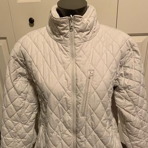 Columbia Core Interchange White Quilted Jacket